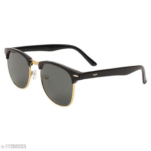 TAJ Black & Golden Clubmaster Unisex Sunglasses