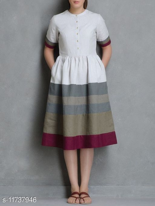 Women's Printed Cotton Anarkali Dresses