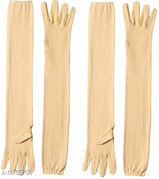 Cotton Arm Sleeve Gloves For Women