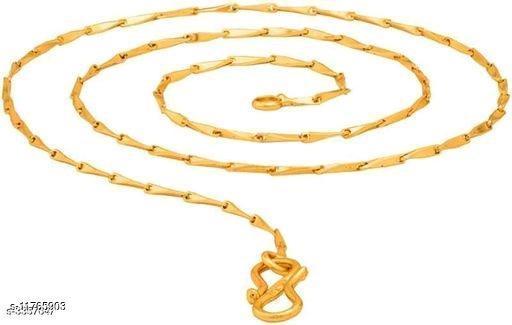 Trendy Men's Golden Brass Chain