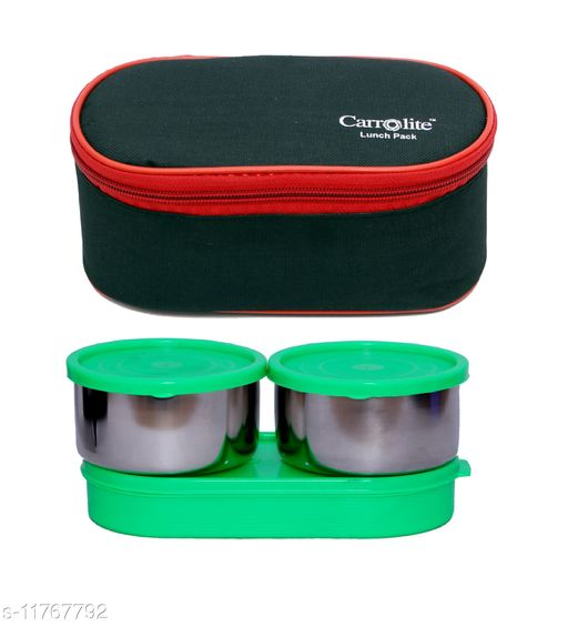 3 in 1 Black-Red (All Green) Lunchbox