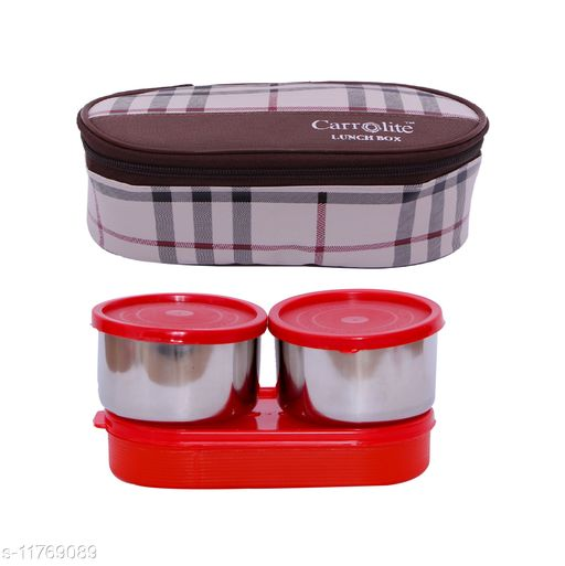3 in 1 Brown-White Barbary (All Red) Lunchbox