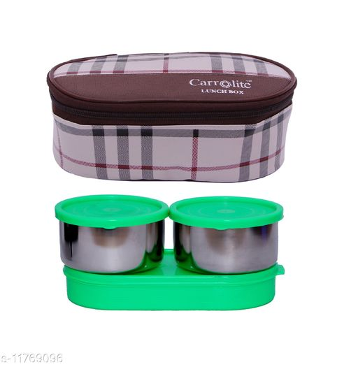 3 in 1 Brown-White Barbary (All Green) Lunchbox