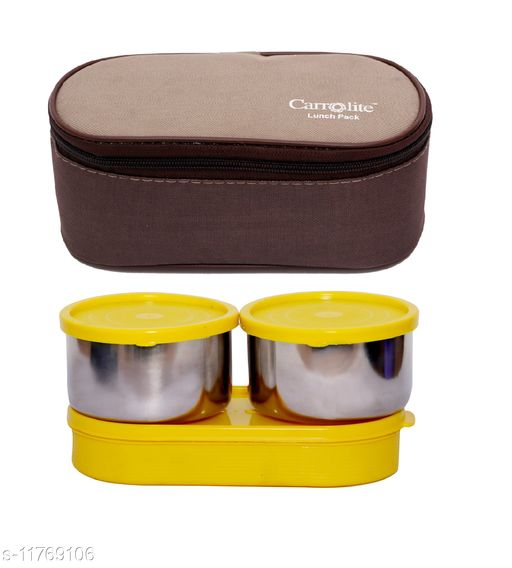 3 in 1 Brown-Beige (All Yellow) Lunchbox