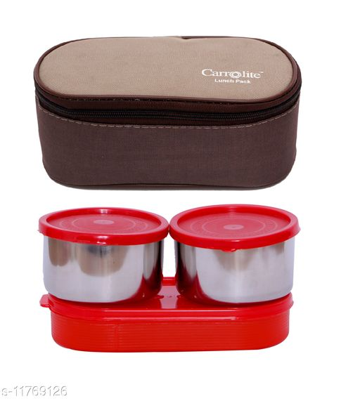 3 in 1 Brown-Beige (All Red) Lunchbox