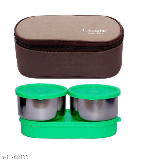 3 in 1 Brown-Beige (All Green) Lunchbox