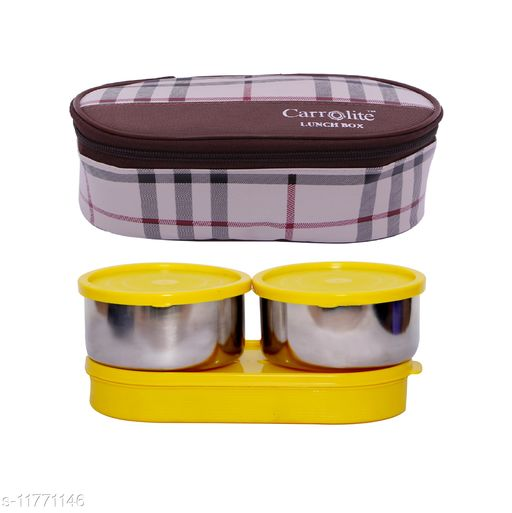 3 in 1 Brown-White Barbary (All Yellow) Lunchbox