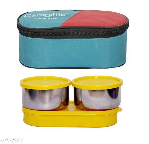 3 in 1 Green (All Yellow) Steel Lunchbox