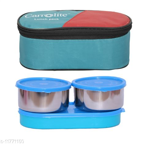 3 in 1 Green (All Syan) Steel Lunchbox