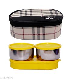 3 in 1 Black-White Barbary (All Yellow) Lunchbox