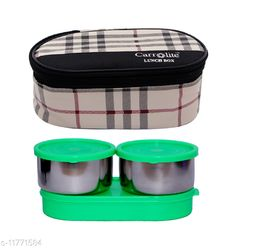 3 in 1 Black-White Barbary (All Green) Lunchbox