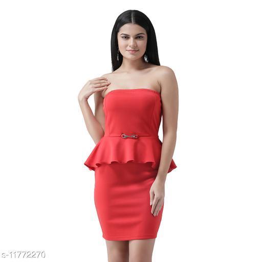 off shoulder peplum dress