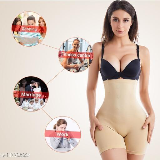 Women's Cotton Lycra Tummy Control 4-in-1 Blended High Waist Tummy & Thigh Shapewear