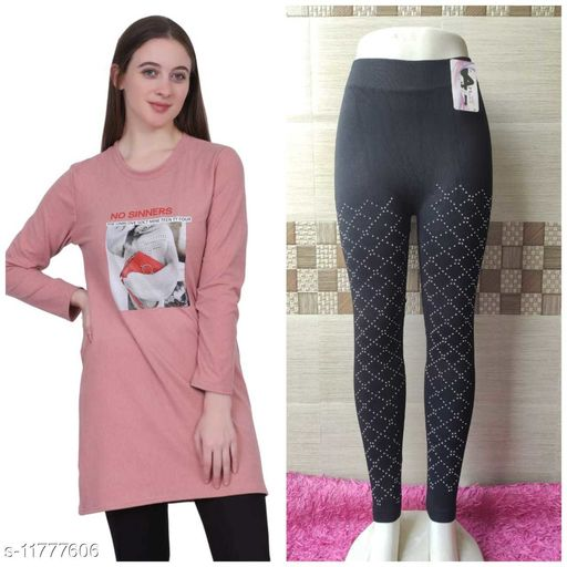 Stylish Women Sweatshirt With Jegging