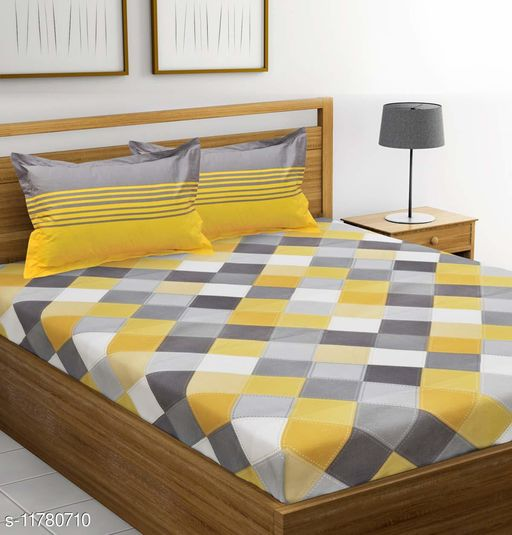 Trendy Jaipuri Printed Cotton Double Bed Bedsheet with 2 Pillow Cover