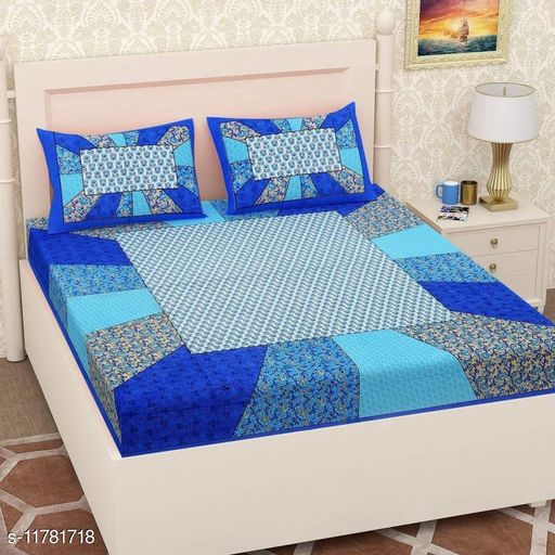 Trendy Double Bed Bedsheet with 2 Pillow Cover