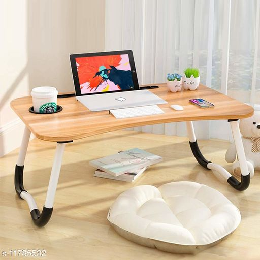 TDW Multi-Purpose Laptop Desk for Study and Reading with Foldable Non-Slip Legs Reading Table Tray, Laptop Table, Laptop Stands, Laptop Desk, Foldable Study Laptop Table, Study Table (Brown)