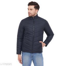 PERFKT-U Men's Navy Solid Puffer Jacket
