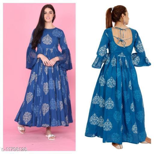 Designer Cotton Backless Dress