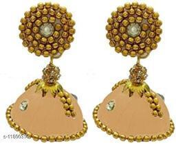 Threadwork Stylish Plastic & Silk Thread Women's Earrings