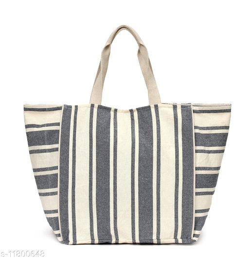 Astrid Blue stripe print oversized shopper bag