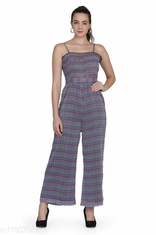Stripe Print Jumpsuits for Women