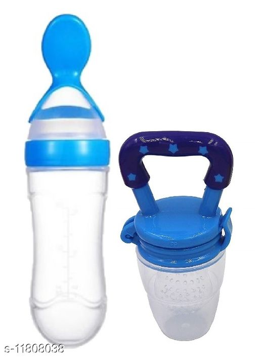 Tiny tycoonz silicone food grade 90ml baby feeding bottle and food/ fruit pacifier/ nibbler