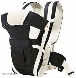 Baby Carrier with 4 Carry Positions, for 6 to 36 Months Baby with Safety Belt Max Weight Up to 12Kg (Black Color)