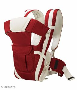 Baby Carrier with 4 Carry Positions, for 6 to 36 Months Baby with Safety Belt Max Weight Up to 12Kg (Maroon Color)