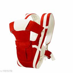Baby Carrier with 4 Carry Positions, for 6 to 36 Months Baby with Safety Belt Max Weight Up to 12Kg (Red color)