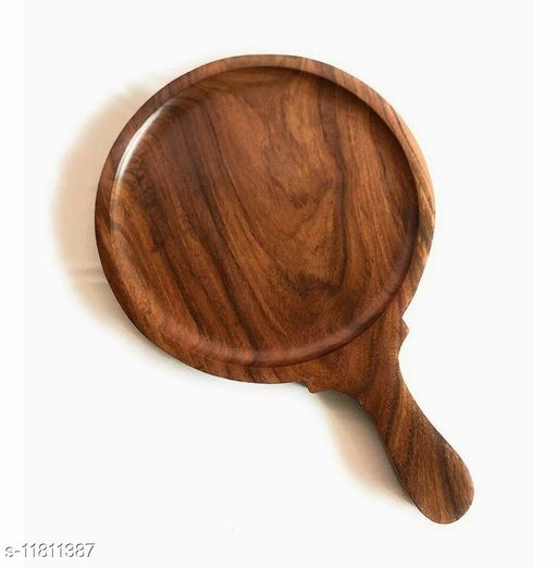 Wooden Pizza Pan, Pizza Serving Tray of Kitchen   Platter    Sheesham    9 Inch, Overall 13 Inch