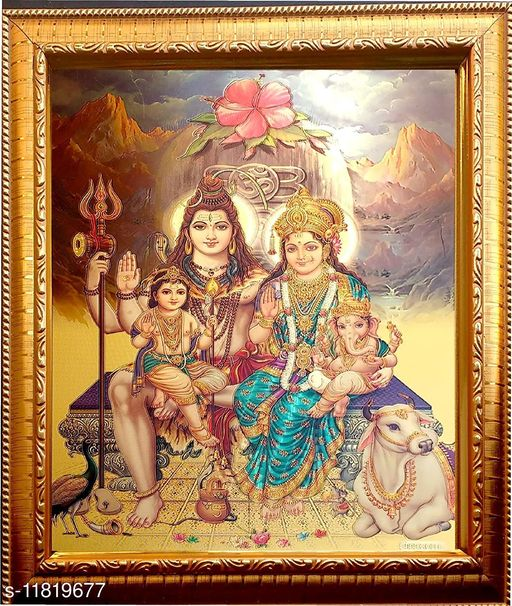 Lord Shiva & Family Frame for Home Decor