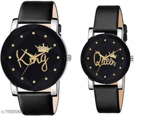Bolun Crystal King-Queen 3D Glass Couple Theme Unisex Wrist Analog Watch Designer Fashion Wrist Analog Watch