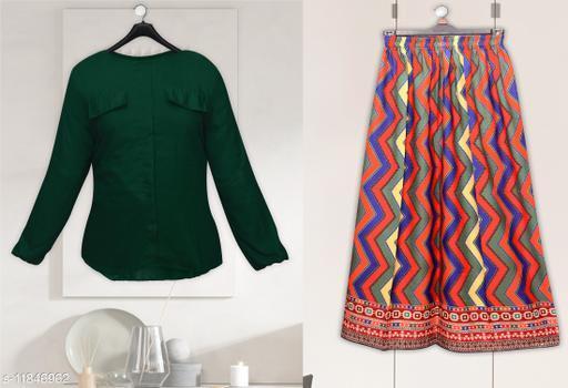 Trendy Fashionable Top & Bottom Set