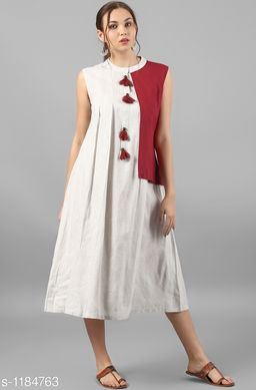 Women's Solid White Khadi Cotton Kurti