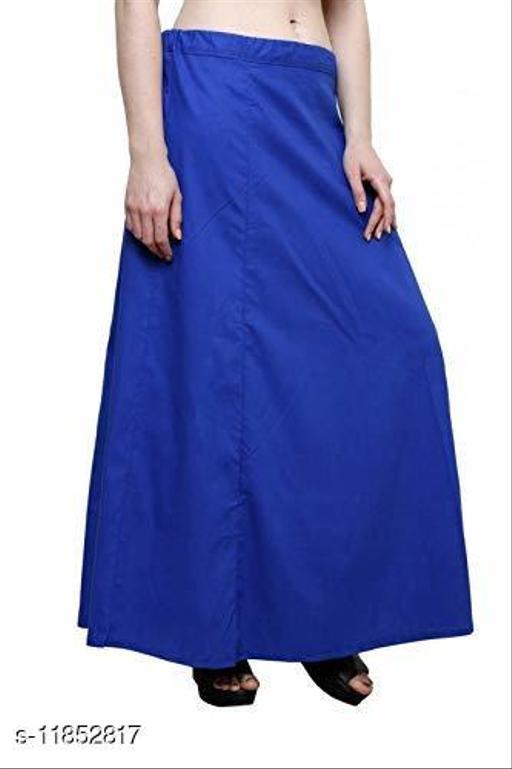 Pure Cotton Saree Petticoat Navy Blue Color Free Size