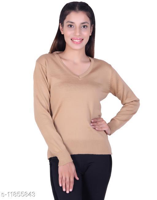 Ogarti woollen full sleeve V Neck Women's Sweater