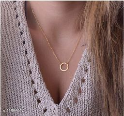 Arzonai Classic Retro Fashion Gold Tone Circle Pendant Necklace with Adjustable Chain for Women and Girls…