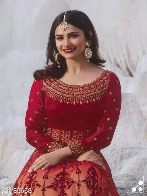 Pretty Art Silk Salwar Suits & Dress Material