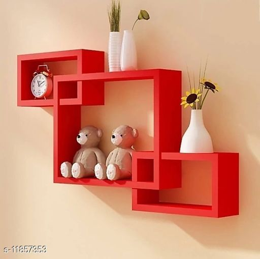 Trendy Attractive stylish wall shelves for living room
