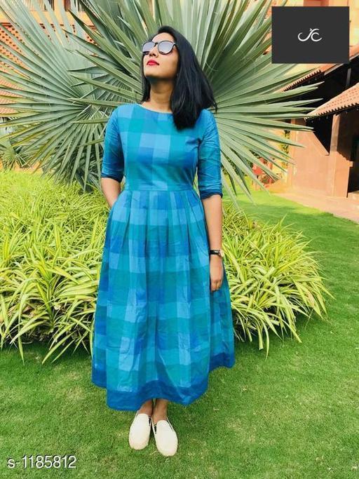 Women's Printed Aqua Blue Dress
