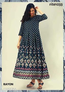 Designer  Printed Gown