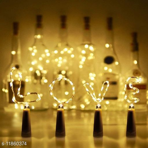 AAR BEE WORLD Copper String Light with Bottle Stopper 2m Cork Shaped Wine Bottle Lights Decoration for Alloween Christmas Holiday Party(4UNIT)