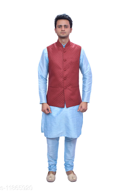MAG Men's Party wear Waistcoat Only