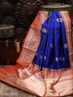 Tulja Woven Kanjivaram Silk  Saree