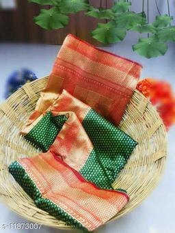 Tulja Woven Banarsi Silk Saree