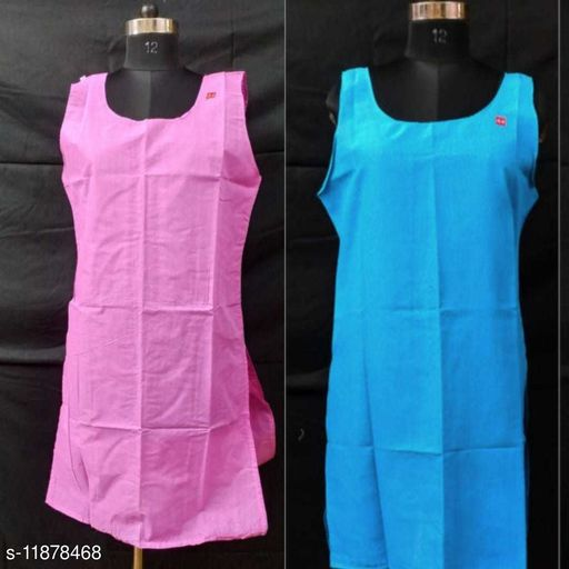 Women Pack of 2 Solid Nightdress