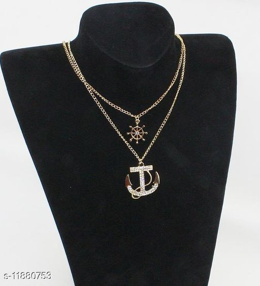 Beautitul Designed Double Layers Gold Plated Necklaces for Women and Girls Gift