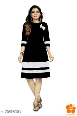 Women's Applique Crepe Anarkali Dresses