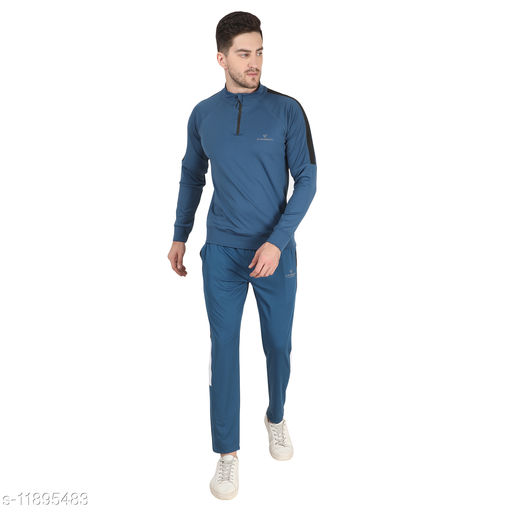 Dpassion Polyester 4 Way Lycra Sport Wear Slim fit Trending Casual and Gym wear mens track suit / track Suit for Men.